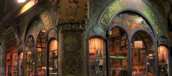 экстерьер пекарни Escriba в Барселоне