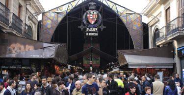 главный вход на рынок Бокерия в Барселоне
