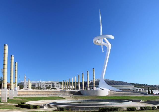 вид на Олимпийский стадион Барселоны