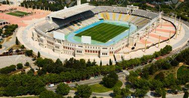 вид на Олимпийский стадион в Барселоне