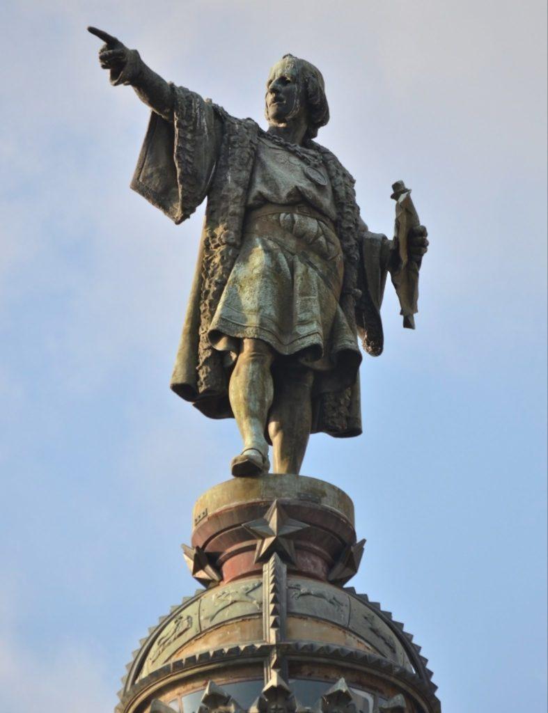 памятник Христофору Колумбу в Барселоне