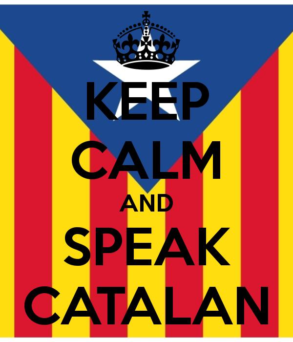 флаг Каталонии с надписью