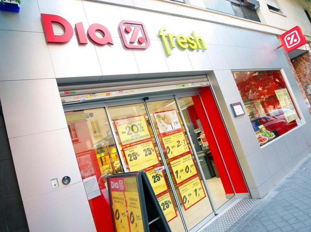 фасад супермаркета Dia в Барселоне