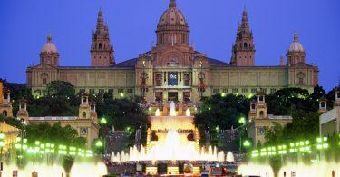 вид на Музей национального искусства Каталонии в Барселоне