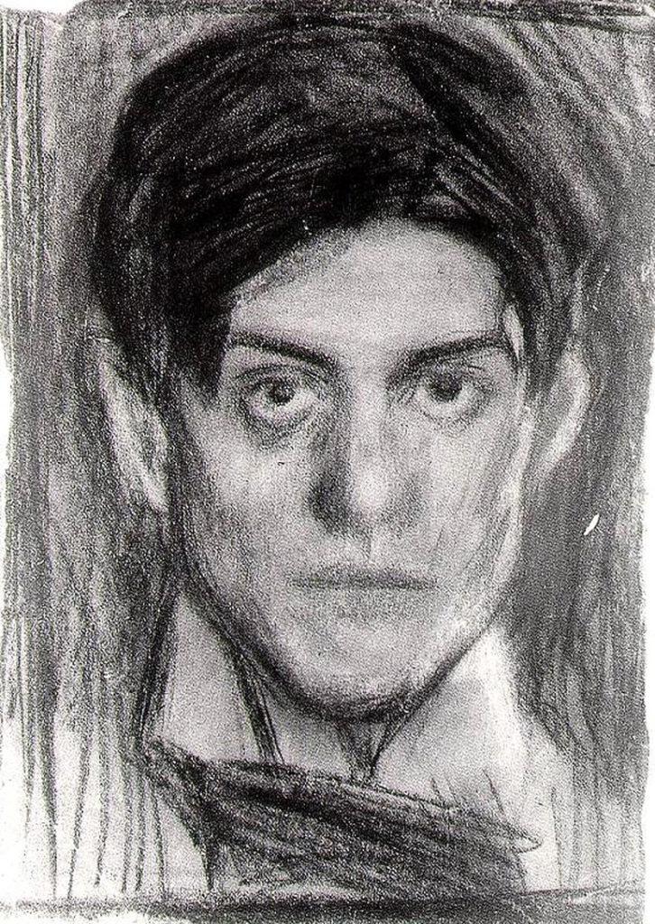 портрет юного Пикассо карандашом