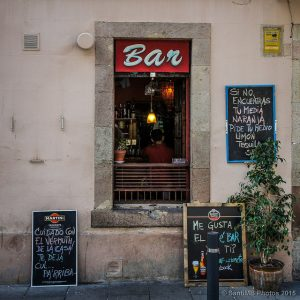 вид с улицы на бар на Барселонете