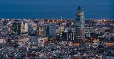 вид с высоты птичьего полета на Барселону