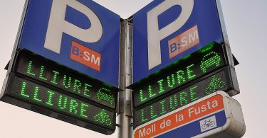 знак паркинга на каталонском языке