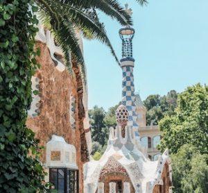 дом с мозаикой в парке