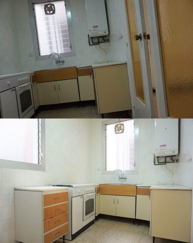 две фотографии одного помещения с разным углом